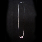 Rose / White Silver CZ Necklace