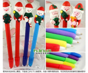 2014. Wholesale 20pcs Christmas Santa Claus Snowman Ballpoint Pens Bic