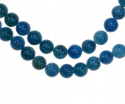 "Apatite Blue 8mm Round Beads Strand 15.75"""
