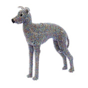 Grass Roots Creations Hound Dog Beadworx Sculpture, Grey