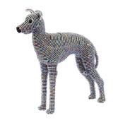 Grass Roots Creations Hound Dog Beadworx Sculpture, Grey