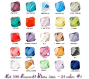 Wholesale Lot 500 Bicone 5MM. 5328 Crystal Beads 25 Colours #1