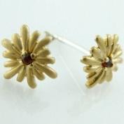 Geolin Jewellery Beyond - Scandinavian Luxury Sun Earrings, Garnet