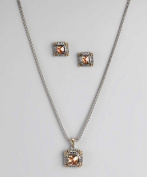 Champagne Pendant Necklace and Earrings Set By Regal Jewellery