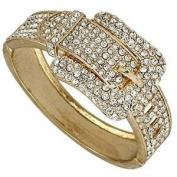 Gold Buckle Bangle Crystal Bracele