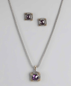 Amethyst Pendant Necklace and Earrings Set By Regal Jewellery