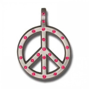 Bico Australia Pendant Jewellery (Cr62 Pink) - Peace Crystal - Love Not War