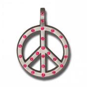 Bico Australia Pendant Jewellery (Cr62 Pink) - Peace Crystal - Love Not War