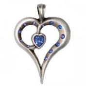 Bico Pendant (Cr36 Blue) Romy - Delicate Beauty, Intense Heart - Red. Crystals - Heart Shaped