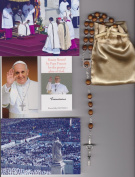 Saint Dominic Relic Rosary Blessed by Pope Francis on 3/19/2013 at Inauguration Mass Patron of Astronomy 50cm Brown Wooden Beads