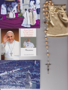 Saint Dominic Relic Rosary Blessed by Pope Francis on 3/19/2013 at Inauguration Mass Patron of Astronomy Beige Wooden Beads