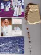 Saint Anthony Relic Rosary Blessed by Pope Francis on 3/19/2013 at Inauguration Mass Patron of Children 50cm Brown Wooden Beads 50cm