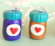 Peanut Butter and Jelly Jars Best Friend Necklaces