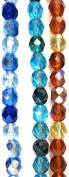 Bead Concepts Czech Glass Fire Polished Mix Beads, 7mm, Mixed