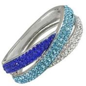 Blue Bangle Crystal Bracelet