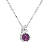 Annaleece February Birthstone Necklace. Elements DeVries Hypoallergenic Nickel-Free ESS10AM-ANNA
