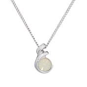 Annaleece June Birthstone Necklace. Elements DeVries Hypoallergenic Nickel-Free ESS10PL-ANNA