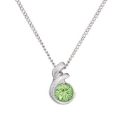 Annaleece August Birthstone Necklace. Elements DeVries Hypoallergenic Nickel-Free ESS10PE-ANNA