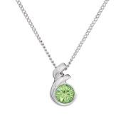 Annaleece August Birthstone Necklace. Elements DeVries Hypoallergenic Nickel-Free ESS10PE-ANNA