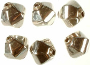 Hexagonal Beads - Sterling Silver