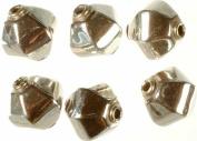 Hexagonal Beads - Sterling Silver