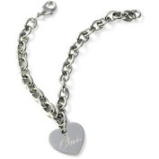 *Best Seller* Personalised Stainless Steel Charm Bracelet