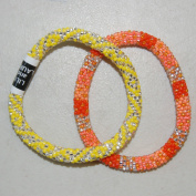 "Lily and Laura Bracelets - ""Sunny Day"" 7.3010 Yellow & Orange"
