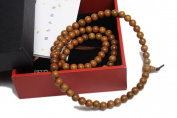 Tan's Accessory Gift Set-Long Jade Sandalwood Beaded Bracelet