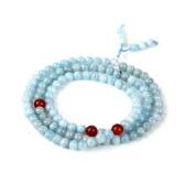 The Art of CureTM (70cm ) Healing Jewellery & Mala meditation beads (108 beads on a strand) Aquamarine