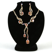 High Quality Fashion Jewellery Set Earrings & Necklace [ECGS-227] Gold plated Brass & Cubic Zirconia - Made in KOREA