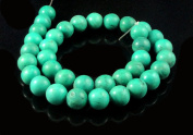 Green Tibetan Turquoise Gemstone 10-12mm Round Beads Strand String
