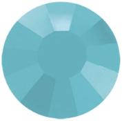 Mode Beads Preciosa Crystal Flatback Beads, Turquoise Blue, 10 Gross Package