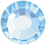 Mode Beads Preciosa Crystal Flatback Beads, Aqua Blue, 10 Gross Package