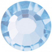 Mode Beads Preciosa Crystal Flatback Beads, Light Blue Sapphire, 10 Gross Package