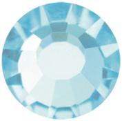 Mode Beads Preciosa Crystal Flatback Beads, Aqua Blue Bohemica, 10 Gross Package