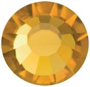 Mode Beads Preciosa Crystal Flatback Beads, Topaz Brown, 10 Gross Package