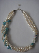 Fresh Water Pearls Necklace Handmade Jewellery 43cm