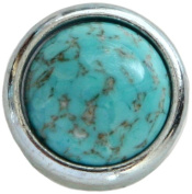 Diamond Head Upholstery Tack Crystal Stone, Turquoise Matrix Lustre Stone in Silver Setting
