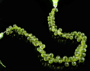 Natural Green Peridot Gemstone 96 Beads 6-8mm Drop Shaped Beads String Strand 8""