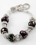 Black Murano Antique Beaded Bracelet
