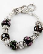 Black Murano Antique Beaded Bracelet
