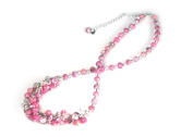 Viva Beads Pink Paradise Necklace | Crystal Cluster | - Handmade Clay Beads Jewellery 05605522