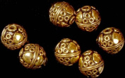 Gold Plated Circular Beads (Price per Pair) - Sterling Silver
