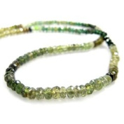 Chrome Tourmaline Faceted Rondelles