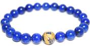Blue Lapis Lazuli 8mm Bracelet with Dragon Bead