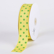 Canary with Apple Dots Grosgrain Ribbon Polka Dot 2.5cm - 1.3cm 50 Yards