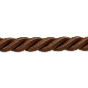 Expo International Charlotte 0.5cm Twisted Cord Trim, 20-Yard, Chocolate