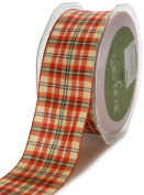 May Arts 1cm Wide Ribbon, Red and Green Plaid