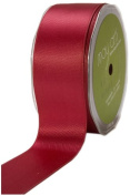 May Arts 3.8cm Wide Ribbon, Burgundy Satin
