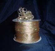 Organza Pull Ribbon Bows - 0.3cm - 100 Yards - Gold